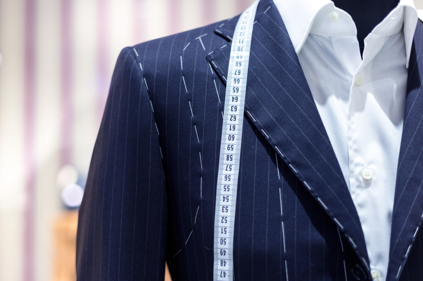 Suits on shop