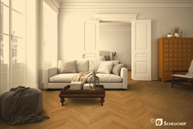 Houten vloer en vloerverwarming uit magazine